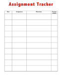 Assignment Tracker Work Completion Behavior Contract