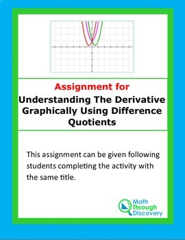Calculus:  Assignment-Understanding the Derivative Graphically
