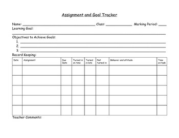 Assignment and Goal Tracker
