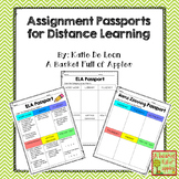 Distance Learning Assignment Passports