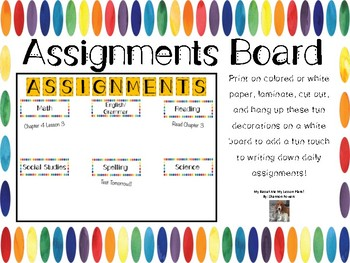 Assignments Board