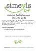 Assistant Centre Manager Interview Guide, please like and follow us on facebook