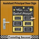 Assistant Principal Door Sign, Back to School Office Decor NOT EDITABLE