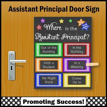Assistant Principal Gift Idea, Back to School Office Decor, Door Sign
