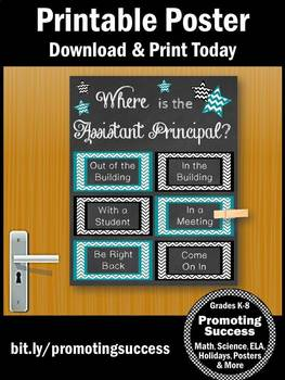 Where is the Assistant Principal Door Sign, Office Decor NOT EDITABLE