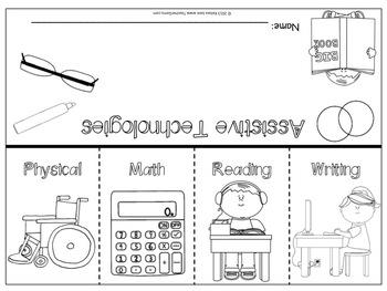 Assistive Technologies Flip Book {FREE}