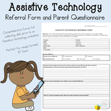 Assistive Technology / AAC Referral Form and Parent Questionnaire