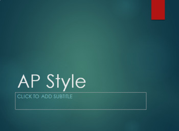 Associated Press (AP Style) PowerPoint and Notes