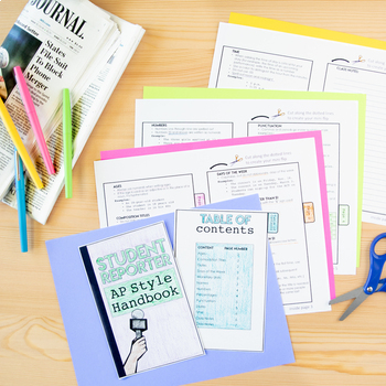 Associated Press (AP) Style Writing Foldable Student Reference Guide