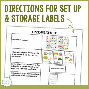 Association Task Cards