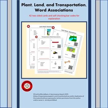Association Task Cards for Plants, Lands, and Transportation Sets