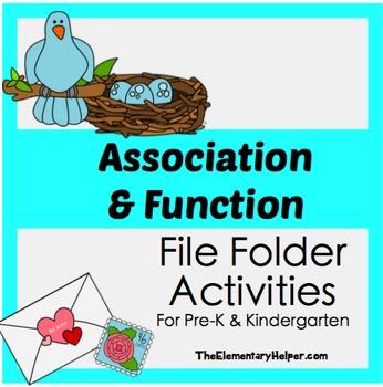 Association and Function File Folder Activities for Preschool and Kindergarten