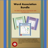 Association and Vocabulary Task Card Bundle: