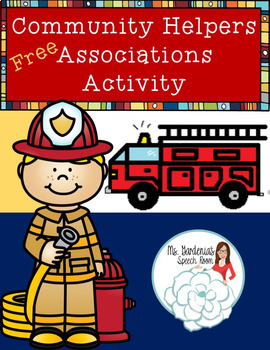 Associations Activity: Community Helpers and Occupations