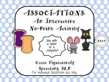 Associations: An Interactive No Print Activity