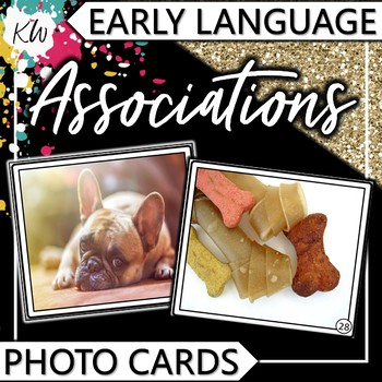 """Associations (""""Go-togethers"""") Photo Flashcards - Early Language"""