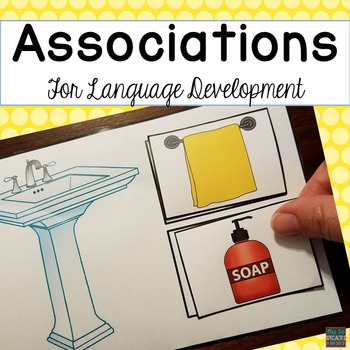 Receptive Language Activities: Associated Items Match (Special Ed and Speech)