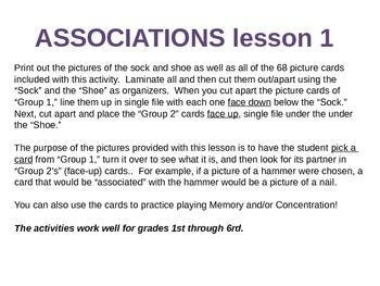 Associations Lesson 1