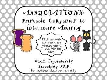 Associations: Printable Companion to Interactive Activity