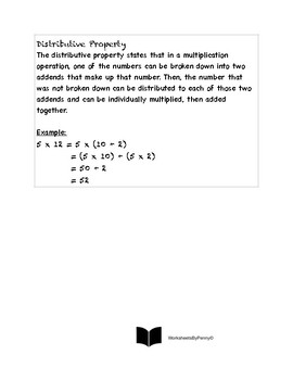 Associative, Commutative, Distributive Properties