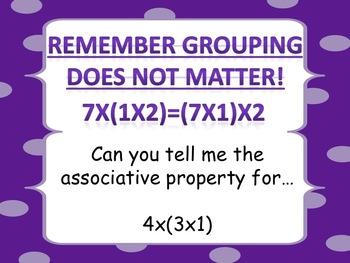Associative Property