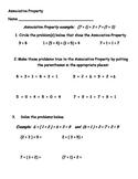 Associative Property (Addition) Practice sheet