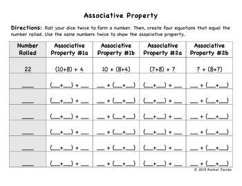 Associative Property Game