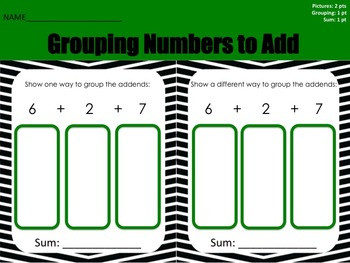 Associative Property Grouping Numbers