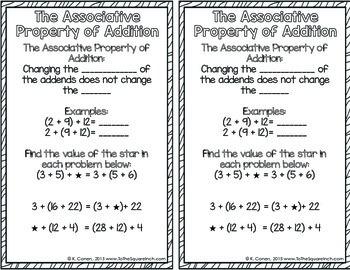 Associative Property Interactive Notebook