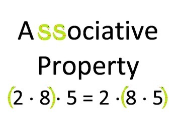 Associative Property Poster