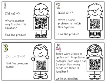Associative Property QR Code Task Cards