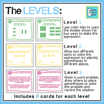 Associative Property Task Cards