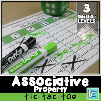 Associative Property Tic-Tac-Toe Game