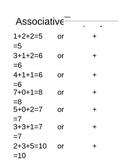Associative Property Worksheet for first or second grade