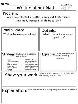 Associative Property Writing About Math