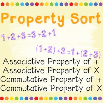 Associative Property and Commutative Property