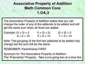 Associative Property of Addition - 1.OA.3 - Common Core Math
