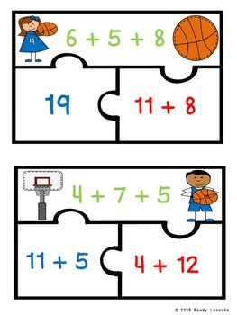 Associative Property of Addition Puzzles 1.OA.3