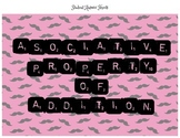 Associative Property of Addition Task Cards Station
