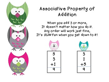 Associative Property of Addition (owl)