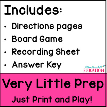 Associative Property of  Board Game