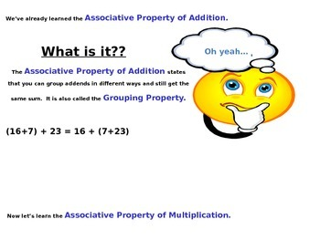Associative Property of Multiplication