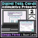 Associative Property of Multiplication Digital Task Cards for Distance Learning