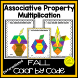 Associative Property of Multiplication FALL Color by Code