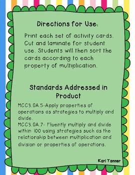 Associative Property of Multiplication Match