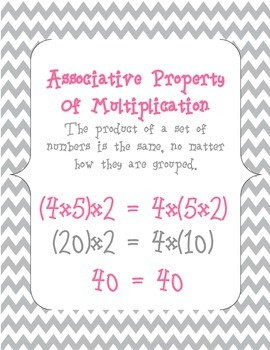 Associative Property of Multiplication Match Up - CCSS and CCGPS Aligned