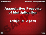 Associative Property of Multiplication Math Poster
