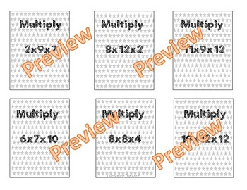 Associative Property of Multiplication Mini Lesson, Work Mat and Game