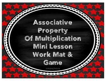 Associative Property of Multiplication Mini Lesson, Work M