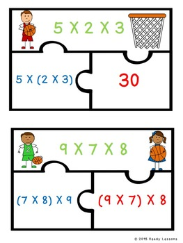 Associative Property of Multiplication Game 3rd Grade 3.OA.5 Puzzles